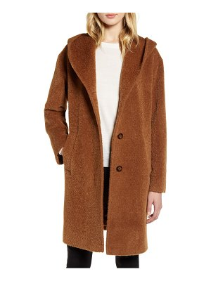 HiSO wool & alpaca blend hooded coat