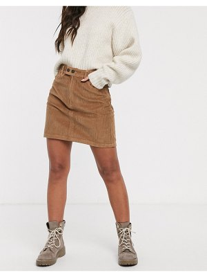 Hollister cord mini skirt-brown