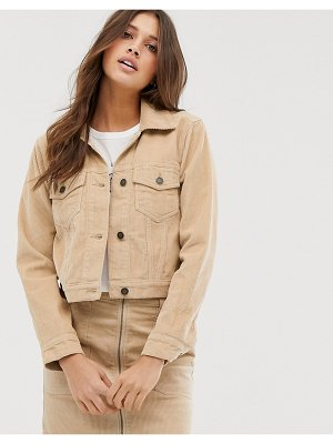 Hollister cord trucker jacket-tan