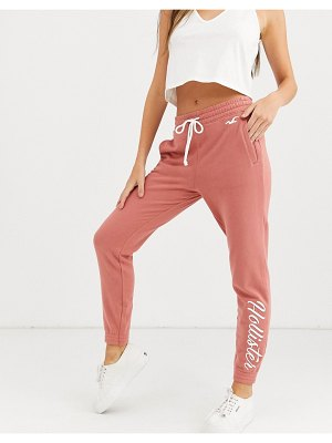 Hollister logo sweatpants-pink
