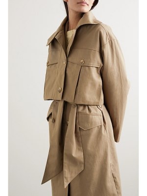 HOLZWEILER granateple convertible cotton-gabardine trench coat