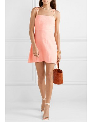 Honorine poppy linen mini dress