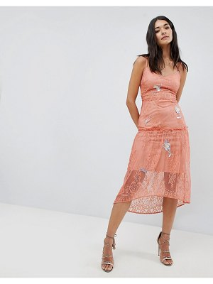 Hope and Ivy lace embroidery cami dress