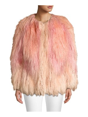 House of Fluff mongolian faux-fur jacket