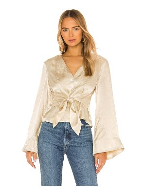 House of Harlow 1960 x revolve flared sleeve top