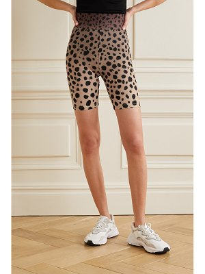 House Of Holland cheetah-print stretch-jersey shorts