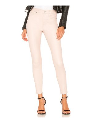 HUDSON Barbara High Rise Leather Ankle Super Skinny