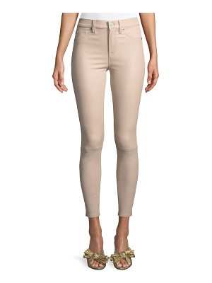 HUDSON Barbara High-Rise Super-Skinny Leather Pants