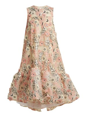 Huishan Zhang Jodie floral-embroidered tulle dress