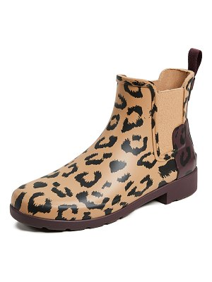 Hunter refined chelsea hybrid print boots