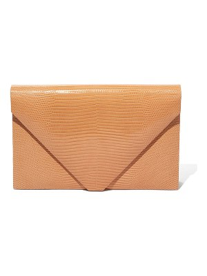 Hunting Season Envelope Clutch Bag in Beige Lizard