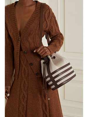 Hunting Season leather-trimmed fique bucket bag