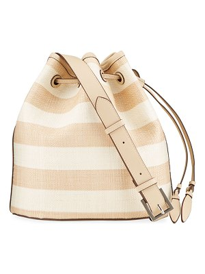 Hunting Season Striped Leather Large Bucket Bag