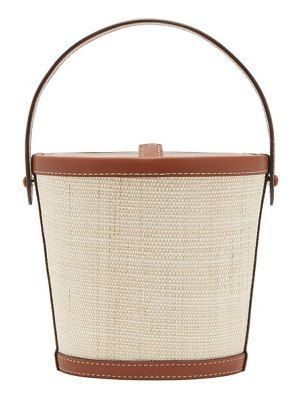 Hunting Season the bucket rattan and leather bag