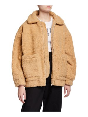 I.AM.GIA Pixie Sherpa Zip-Front Coat