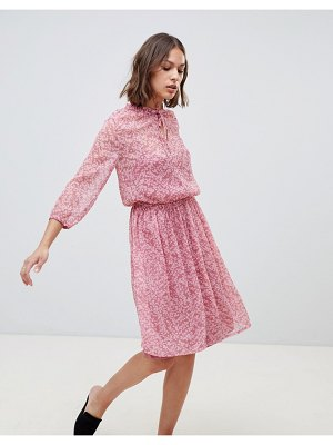 Ichi floral high neck dress