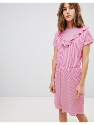 Ichi v panel high neck dress