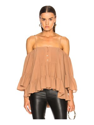 ICONS Bare Shoulder Peasant Top