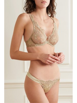 I.D. Sarrieri embroidered tulle underwired soft-cup bra
