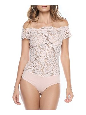I.D. SARRIERI Nuit Ephemere Off-The-Shoulder Bodysuit