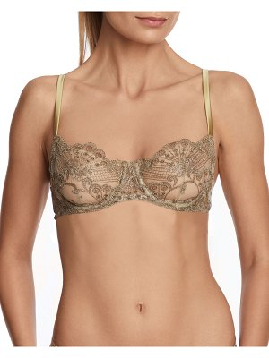 I.D. Sarrieri Rosam Embroidered Tulle Underwire Bra