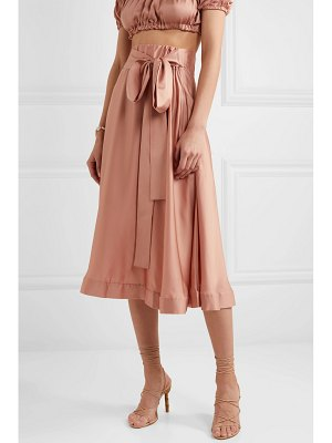 I.D. Sarrieri silk-satin midi skirt