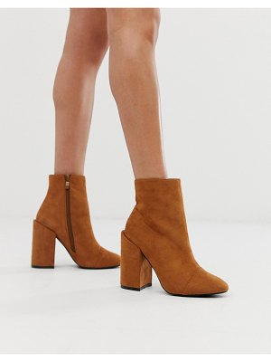 In The Style faux suede round toes boots