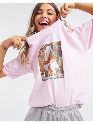 In The Style x billie faiers motif t shirt in pink
