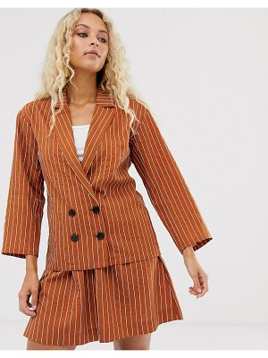 In Wear pinstripe emilie blazer