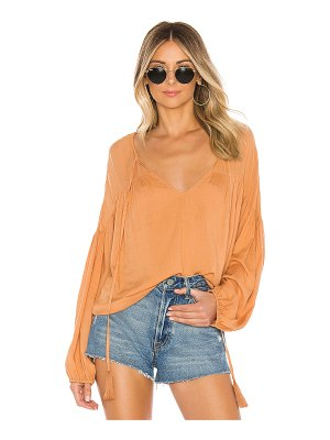 Indah somi solid easy oversize summer blouse
