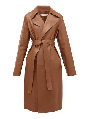 Inès & Maréchal gustave leather trench coat