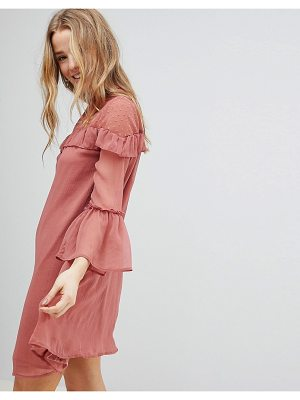 Influence chiffon frill detail dress