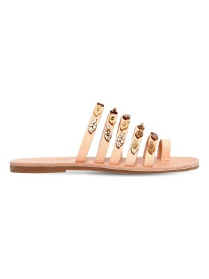 IOANNIS 10mm fish multi strap leather sandals