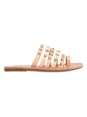IOANNIS 10mm shell multi strap leather sandals
