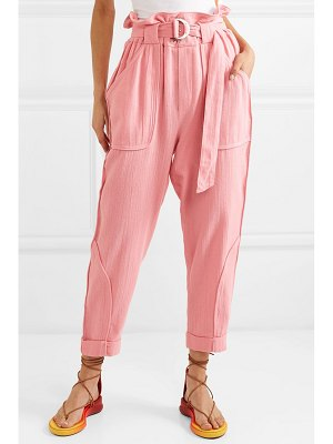IRO harmony belted cotton tapered pants