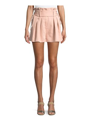 IRO Lalora High-Waist Lace-Up Shorts