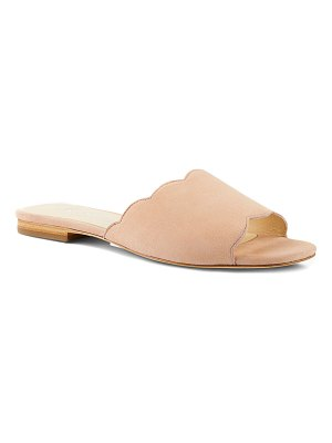 Isa Tapia Neva Scallop Suede Sandals