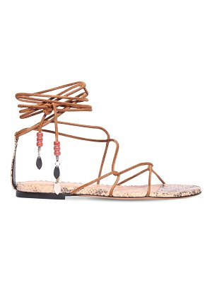 Isabel Marant 10mm jindia suede lace-up sandals
