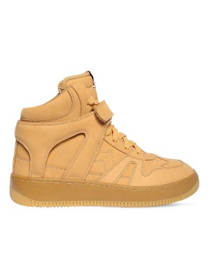 Isabel Marant 30mm brooklee leather high top sneakers