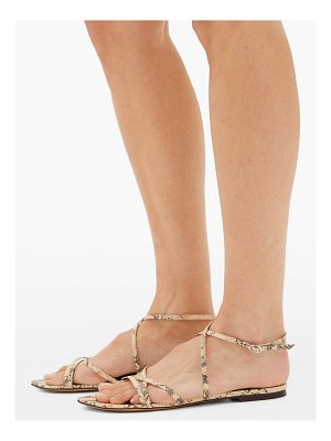 Isabel Marant apopee python-effect leather sandals
