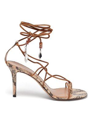 Isabel Marant askee bead-embellished rope and leather sandals