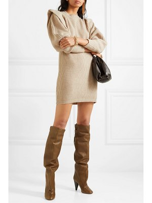 Isabel Marant beatsy ribbed cashmere and wool-blend mini dress