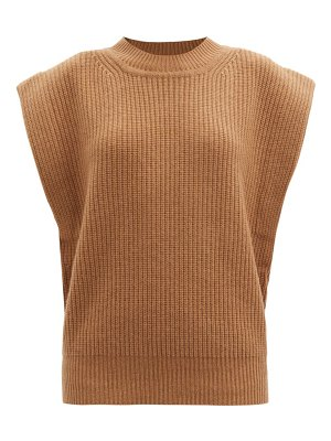 Isabel Marant bridget cap-sleeve cashmere and wool sweater