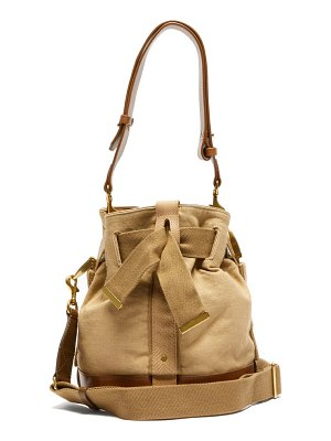 Isabel Marant deewy leather and canvas bag
