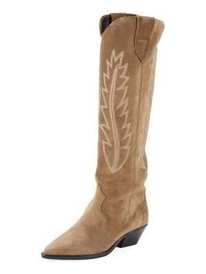 Isabel Marant Denzy Point-Toe Western Knee Boot