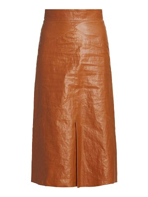 Isabel Marant domiae faux-leather skirt