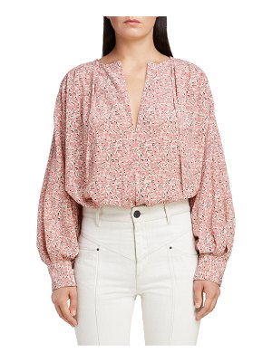 Isabel Marant floral stretch silk blouse