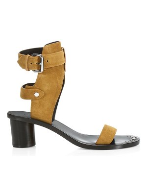 Isabel Marant jaeryn velvet leather ankle strap sandals