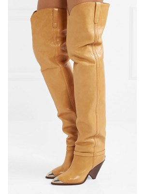 Isabel Marant lafsten embellished leather over-the-knee boots