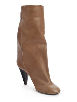 Isabel Marant lakfee slouch boot with genuine shearling lining